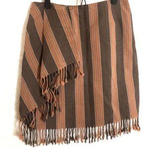 Worth striped faux wrap skirt size 2